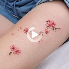 #thightattoos Flower Thigh Tattoos, Falling Down, Back Tattoo, Print Tattoos, Thighs, Thigh Tattoos, Flower Tattoos On Thigh, Floral Thigh Tattoos, Back Tattoos