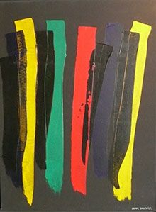 Oscar Gauthier, one of the principal artists of lyric abstraction after WW2, is honored in this exhibit of his works from the 50s and more recent. Oscar Gauthier : années 50 et récentes is FREE at the Mairie du 6e, Salon du Vieux Colombier, Monday-Friday 11h30 to 5pm, Thursday til 7pm, Saturday 10h to noon through July 3rd.