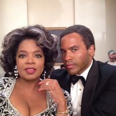 """This is how Oprah and Lenny Kravitz looked after being """"aged"""" for their film, """"The Butler."""" Double-click to get Oprah's advice on growing older."""