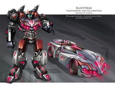 Bluestreak was planned to be included in Transformers: War for Cybertron — Autobots at some point, but was eventually scrapped for unknown reasons. He did remain in the design stages long enough to receive a nice piece of concept art courtesy of David White, though. Thankfully, Bluestreak's War for Cybertron design didn't go to waste, as it was later used for another Bluestreak and adapted for Prowl in The Transformers: Robots in Disguise comic series.