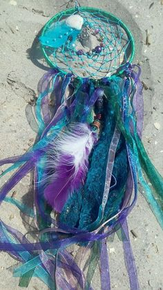 Paradise Mermaid decor Large dream catcher purple by bellaluv987 Mermaid Bedroom, Mermaid Room Decor, Unicorn Bedroom, Mermaid Gifts, Purple Teal, Girls Bedroom, Bedroom Decor, Bedroom Ideas, Large Dream Catcher