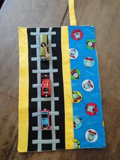 Thomas the Train Caddy Roll up Tote with Railroad by justamama