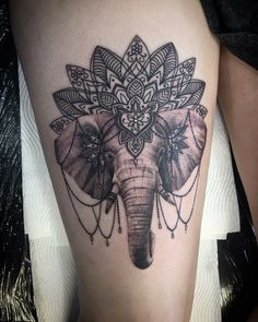 Elephant tattoo mandala