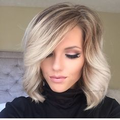 Beautiful blonde bob by Amber Moyer blonde highlights balayage Ombre