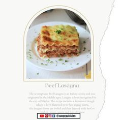 Meat Lovers Lasagna Recipe | Barilla Meat Lasagna Recipe | Beef Lasagna Meat Lovers Lasagna Recipe, Meat Lasagna, Easy Lasagna Recipe, Homemade Lasagna, Beef Sauce, Sauteed Vegetables, Cooking Time, Beef Recipes