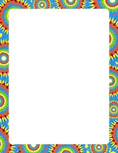 Printable tie dye border. Free GIF, JPG, PDF, and PNG downloads at http://pageborders.org/download/tie-dye-border/. EPS and AI versions are also available.