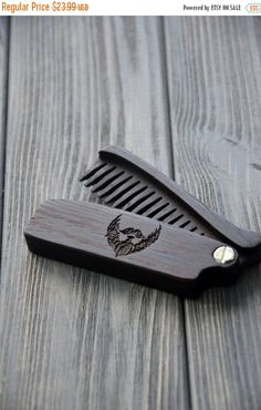 ON SALE New Wooden Beard Hair Folding Comb Wenge by EnjoyTheWood