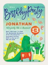 Dino Party #HappyBirthday #SimplytoImpress Baptism Invitation For Boys, Birthday Invitations Kids, Graduation Party Invitations, Engagement Party Invitations, Baby Shower Invitations For Boys, Boy Birthday Parties, Girl Birthday, 1st Wedding Anniversary, Bar Mitzvah Invitations