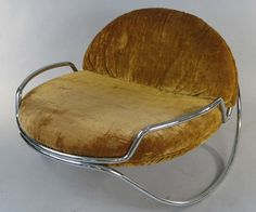 Modern 1960's Chrome Rocking Chair by Selig | From a unique collection of antique and modern rocking chairs at http://www.1stdibs.com/furniture/seating/rocking-chairs/