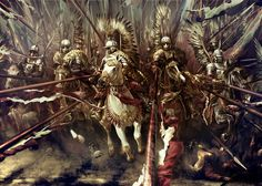 """We saw it…. the hussars let loose their horses. God, what power!"" Winged Hussar cavalry."