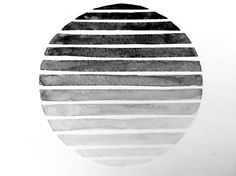Ombre Circle Geometric Watercolor Painting / ombre sphere geometric art