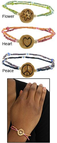 Zulugrass I Am Charmed Bracelet at The Animal Rescue Site $10.00 (Funds 14 bowls of food)