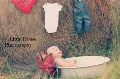 Cowboy baby photo idea
