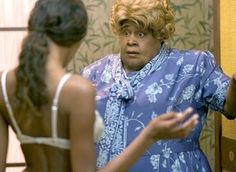 13 augustus 2013: Etiket. Foto: Martin Lawrence als undercover agent Malcolm Turner vermomd als Big Momma in  Big Momma's House (2000)