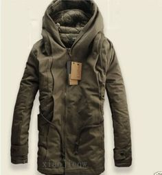 2016+NEW+Parka+Mens+Military+Trench+Coat+Ski+Jacket+Hooded+Thick+Cotton+Winter+