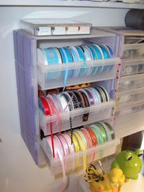 DIY ribbon organizers, more than just this picture