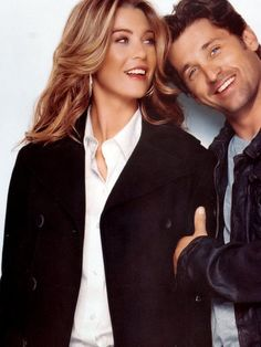 TBT: Remember the start of Grey's Anatomy? Great times and look how beautiful Ellen Pompeo looks with that long wavy hair.