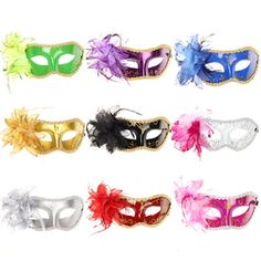 10pc/lot Mix Color Halloween Christmas Party Venetian Mardi Gras Masquerade Flower Mask *** Read more reviews of the product by visiting the link on the image.