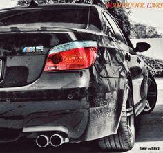 BMW E60 M5 black b&w