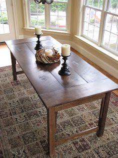 Lipstick and Sawdust: Farmhouse Table