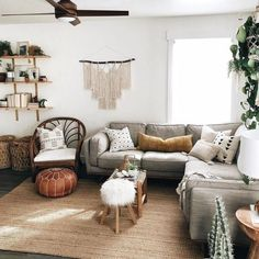 Timber Pebble Gray Corner Sectional A honey oak wooden trim and voluptuous linen cushions define this sofa with an updated mid-century modern style. Sink into the feather filled cushions and relax — you've come home to your new favorite place. Interior Desing, Home Interior, Boho Living Room, Home And Living, Small Living, Bohemian Living, Cozy Living, Big Living Rooms, Coastal Living