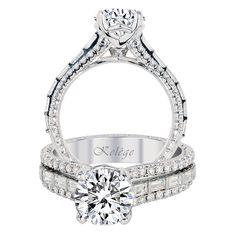 Jack Kelége Baguette Engagement Ring. #JackKelege #bridal #SayYes #timeless  Available at http://globaldiamondsusa.com