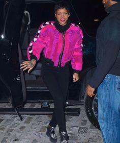 Riri in some pink fur