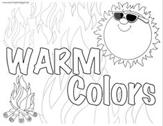 Creativity In Connecticut Warm And Cool Color Family Coloring Pages