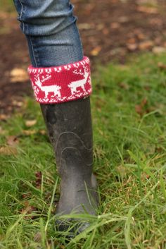 'Jazz up a pair of plain rubber boots with a cuff from socks or an old sweater.'