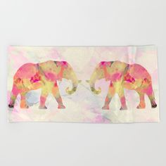 """Lay out like a pro with this super comfy, oversized and unique artist-designed Beach Towel. The soft polyester-microfiber front and cotton terry back are perfect for, well, drying your front and back. This design is also available as a bath and hand towel. Machine washable.  Towel Dimensions: <br>Hand Towel 30""""x15"""", Bath Towel 64""""x32"""", Beach Towel 74""""x37"""""""