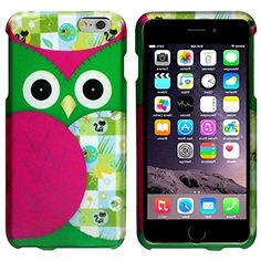 """myLife Spring Green and Hot Pink {Owl Craft Artsy Doodle} 2 Piece Snap-On Rubberized Protective Faceplate Case for the NEW iPhone 6 Plus (6G) 6th Generation Phone by Apple, 5.5"""" Screen Version """"All Ports Accessible"""" myLife Brand Products http://www.amazon.com/dp/B00UB7GH90/ref=cm_sw_r_pi_dp_0uAhvb1EDH8FH"""