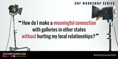 Navigating the #art industry can be difficult, don't go it alone http://clarkhulingsfund.org/accelerator/ #community #anonymousartist