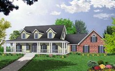 Spacious Home Plan with Charming Details - 7408RD | Country, Farmhouse, Southern, 1st Floor Master Suite, Bonus Room, CAD Available, Loft, PDF, Wrap Around Porch, Corner Lot | Architectural Designs