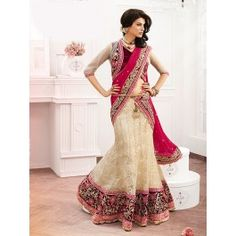 Cream Tusser Saree With Embroidery And Stone Work