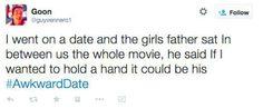 23 Awkward First Date Tweets