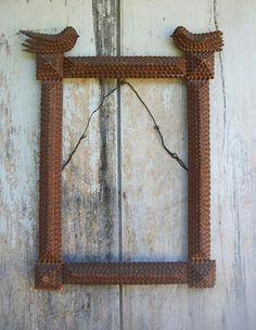 Great old tramp art frame