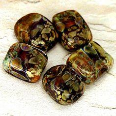 Lampwork Boro Glass Bead Set, Copper River