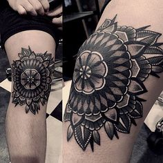 _ #knee #tattoo #mandalatattoo More