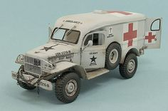 Dodge WC-54 Ambulance - US Navy Dodge Vehicles, Army Vehicles, Armored Vehicles, Plastic Model Kits, Plastic Models, Dodge Power Wagon, Model Hobbies, Military Modelling, Military Diorama
