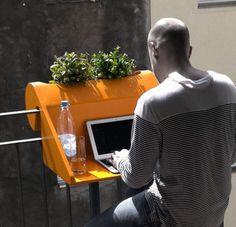 Outdoor balcony desk
