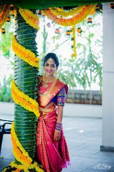 Wedding Indian Photography Saree Ideas For 2019 Telugu Wedding, Telugu Brides, Wedding Mandap, Wedding Stage, Wedding Bride, Wedding Dresses, Wedding Photoshoot, Wedding Events, Wedding Reception