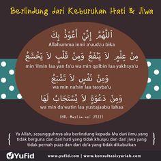 Doa to protect from bad heart. Hijrah Islam, Doa Islam, Beautiful Dua, Beautiful Prayers, Prayer Verses, Quran Verses, Islamic Prayer, Islamic Dua, Islamic Inspirational Quotes