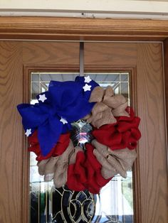 Americana wreath, I would do something different for the blue.