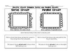 Electric Circuit Foldable: Series and Parallel Circuits