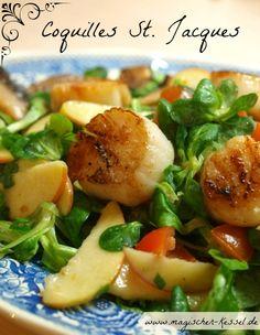 Gebratene Jakobsmuscheln – schlicht, köstlich, edel / Fried scallops #easter #Cocquilles St.Jaques #ostern #ostermenü