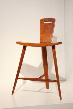 Extremely Rare Three-Legged Stool by Tage Frid