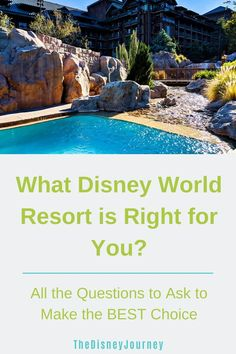 Choosing a Disney Resort can be overwhelming. This guide will help you narrow down which Disney Resort is best for your family and budget. Disney World Hotels, Disney World Vacation, Disney World Resorts, Disney Vacations, Disney World Tips And Tricks, Disney Tips, Disney Fun, Disney Stuff, Walt Disney