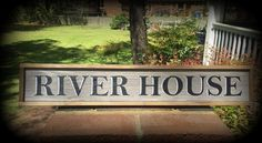 River Sign. River House Sign. Hand-made Sign for your Home on the River.  Great Gift Idea. ON SALE. by ASentimentalSeason on Etsy