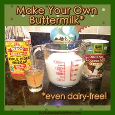How to make your own Buttermilk. Plus, Buttermilk Waffles! Ultra light, fluffy, and delicious! Gluten free, grain free, paleo, lower-carb, dairy free) By Jenny at www.AuNaturaleNutrition.com