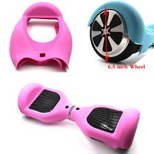 """Pink Silicone Soft Skin Case Covers For 6.5"""" Scooter Hoverboard Rubber"""